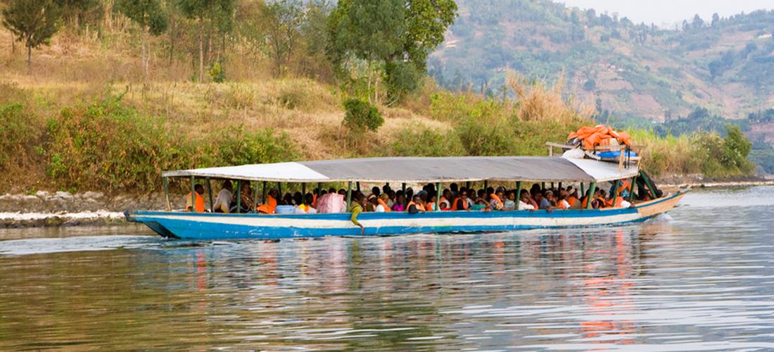 Boat ride on Lake Kivu, Rwanda