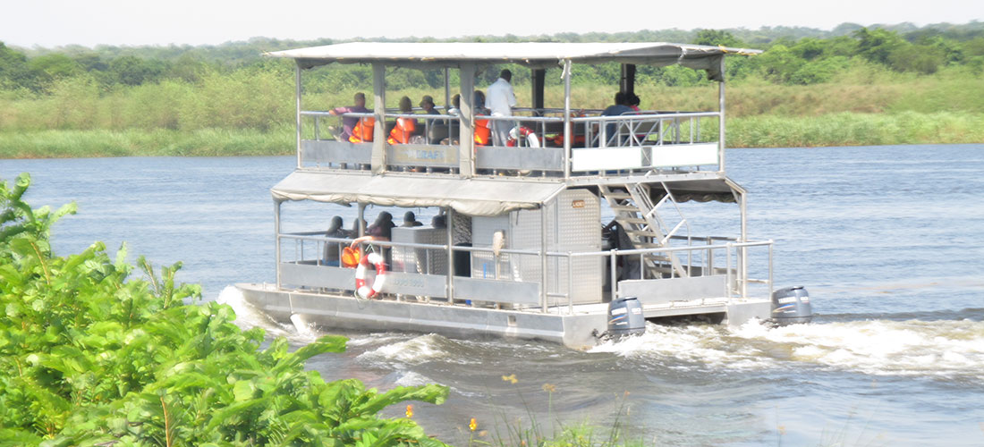 Launch cruise on the Nile while on Murchison falls safari tour